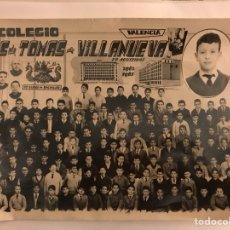 Fotografía antigua: P.P. AGUSTINOS (VALENCIA) COLEGIO SANTO TOMAS DE VILLANUEVA 1962-63. Lote 125446392
