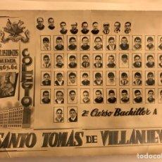 Fotografía antigua: P.P. AGUSTINOS (VALENCIA) COLEGIO SANTO TOMAS DE VILLANUEVA CURSO 1963-64. Lote 125447430