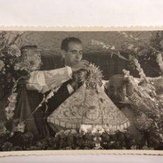 Fotografía antigua: UTIEL (VALENCIA) FOTOGRAFÍA CORONACIÓN DE LA VIRGEN DEL REMEDIO DE UTIEL (A.1960?). Lote 126119742