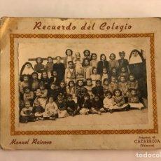 Fotografía antigua: CATARROJA (VALENCIA) FOTOGRAFÍA COLEGIO DE MONJAS PARA NIÑAS. FOTO. MANUEL REINOSO (H.1940?). Lote 126184884