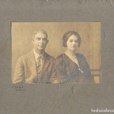 Fotografía antigua: 150-EXTRAORDINARIA FOTOGRAFIA ANTIGUA - UN MATRIMONIO - FOTO - G. BESTARD - POLLENSA. Lote 126238659
