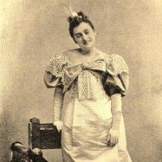 Fotografía antigua: 4 FOTOS: MARÍA GUERRERO Y OTRAS TRES ARTISTAS,1897, IMPRESIÓN ACTUAL DE CALIDAD FOTOS ÉPOCA - CLC. Lote 126666595