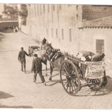 Photographie ancienne: CARRO, MATERIALES DE CONSTRUCCION. ISIDRO CAMPMANY. 9 X 12 CMS... VELL I BELL. Lote 126996815