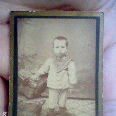 Fotografía antigua: FOTOGRAFIA PPOS SIGLO NIÑO ESTUDIO MOUTON MONTERA MADRID . Lote 127224271
