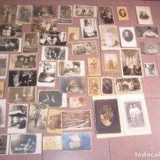 Fotografía antigua: LOTE DE FOTOS ANTIGUAS. Lote 127226903
