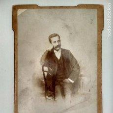 Fotografía antigua: FOTOGRAFIA POSTAL, CABALLERO POSANDO, AÑOS 20, ESCRITA, FOTOGRAFIA F. NAVARRO, MADRID. Lote 128929059