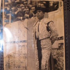 Fotografía antigua: JUNCAL FAMOSO TORERO FIESTAS FOTO POSTAL BALDOMERO PAREDES MADRID PLAZA TOROS MANUSCRITA. Lote 129284631