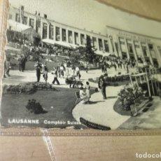 Fotografía antigua: ANTIGUA FOTO POSTAL 1947 EXPOSICION COMPUTADORAS ANTIGUAS SUIZA LOUSANNE PRIMEROS ORDENADORES ?. Lote 53696355