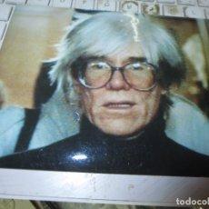 Fotografía antigua: ANDY WARHOL FOTOGRAFIA ALGO DETERIORADA. Lote 129396655