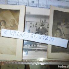 Fotografía antigua: LOTE 3 FOTOS POSTAL ANTIGUA MIRANDA EBRO BAR CON SOLERA Y PROPIETARIOS. Lote 181560120