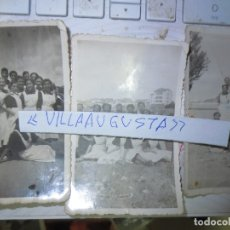 Fotografía antigua: 3 FOTOS ANTIGUAS MIRANDA DEL EBRO CHICAS CON UNIFORME ELEGANTE. Lote 129461687