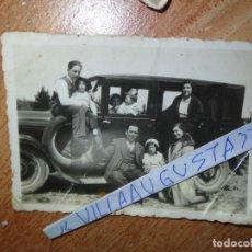 Fotografía antigua: FOTOGRAFIA ANTIGUO COCHE PRINCIPIOS DE SIGLO FAMILIA MIRANDA DEL EBRO. Lote 129483631