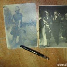 Fotografía antigua: GRANDES FOTOS ANTIGUAS BELLA SEÑORITA PUENTE MIRANDA DEL EBRO Y MATRIMONIO . Lote 129483711