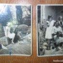 Fotografía antigua: 2 FOTOS ANTIGUAS 1932 MADRE HIJAS Y PERRITO EN CASERON Y PAREJA CON PALOMAS MIRANDA DEL EBRO. Lote 129483767
