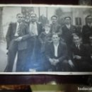 Fotografía antigua: FIESTAS SAN JUAN DEL MONTE DECORADO ANTIGUO EDIFICIO ESCUDO Y PERSONALIDADES DE MIRANDA DEL EBRO. Lote 129497623