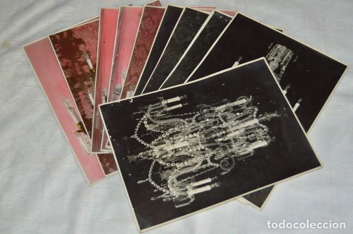VINTAGE - LOTE DE 11 FOTOGRAFÍAS DE LÁMPARAS ANTIGUAS - CREO QUE DE VENDEDOR DE LÁMPARAS - ENVIO 24H (Fotografía - Artística)