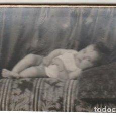 Fotografía antigua: FOTOGRAFIA DE BEBE FOTOGRAFO AMER PALMA DE MALLORCA - -H-8. Lote 130115087