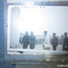 Fotografía antigua: VISITA OFICIALES FRANCESES IV 1939 GUERRA CIVIL ALIADOS IFNI. Lote 130555042