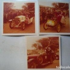 Fotografía antigua: 3 FOTOS ORIGINALES POLAROID RALLY BARCELONA - SITGES DE COCHES DE ÉPOCA CLÁSICOS 1975.. Lote 130914940