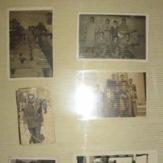 Fotografía antigua: LOTE FOTOS MILITARES ANTIGUAS CON ESPADAS ALICANTE TAMAÑO POSTAL ALGUNAS. Lote 123083851