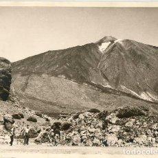 Fotografía antigua: TRES FOTOGRAFIAS ANTIGUAS ASCENSION EXCURSION AL TEIDE TENERIFE CANARIAS. Lote 130986380