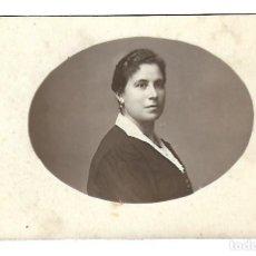 Fotografia antica: G60-EXTRAORDINARIA FOTOGRAFIA ANTIGUA- UNA DAMA -FOTO- LA MADRILEÑA-SANTIAGO,76-VALLADOLID- 1921. Lote 131289539