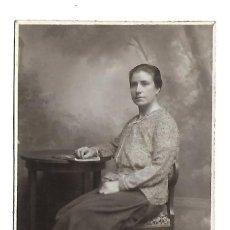 Fotografia antica: G60-EXTRAORDINARIA FOTOGRAFIA ANTIGUA-UN DAMA -FOTO- BARIEGO - VALLADOLID- DE 1929. Lote 131290499