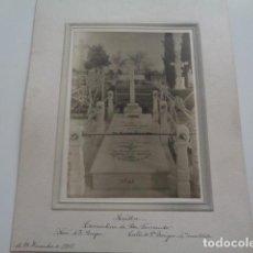 Fotografía antigua: SEVILLA. CEMENTERIO DE SAN FERNANDO. CALLE DE SAN BENIGNO. IMAGEN DICIEMBRE 1915. Lote 132106054