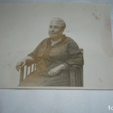 Fotografía antigua: FOTO ANCIANA POSANDO. Lote 132405514
