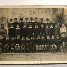 Fotografía antigua: RETRATO ESCOLAR. ESCUELA NACIONAL DE NIÑOS (H.1940?). Lote 133360142