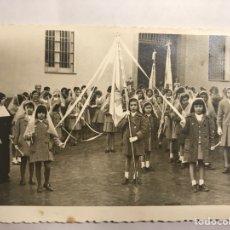 Fotografía antigua: ALICANTE. FOTOGRAFÍA ORIGINAL. NIÑAS COLEGIO DE MONJAS. FOTO; ALBERO (H.1950?). Lote 133585611