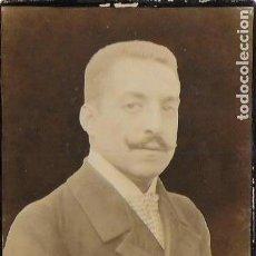 Fotografía antigua: F- 3866. FOTOGRAFIA DE ESTUDIO, CABALLERO S.XIX.. Lote 133923442