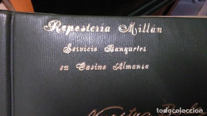 PASTELERIA MILLAN ALBUM ANTIGUO DE FOTOS VACIO ALMANSA BANQUETE EN CASINO (Fotografía - Artística)