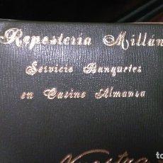 Fotografía antigua: PASTELERIA MILLAN ALBUM ANTIGUO CON 12 FOTOS ALMANSA BANQUETE EN CASINO. Lote 133995246