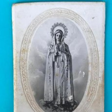 Fotografía antigua: FOTOGRAFIA DE LA IMAGEN DE LA SANTISIMA VIRGEN DE FATIMA POR PASCUAL ARIAS MADRID . Lote 134055894