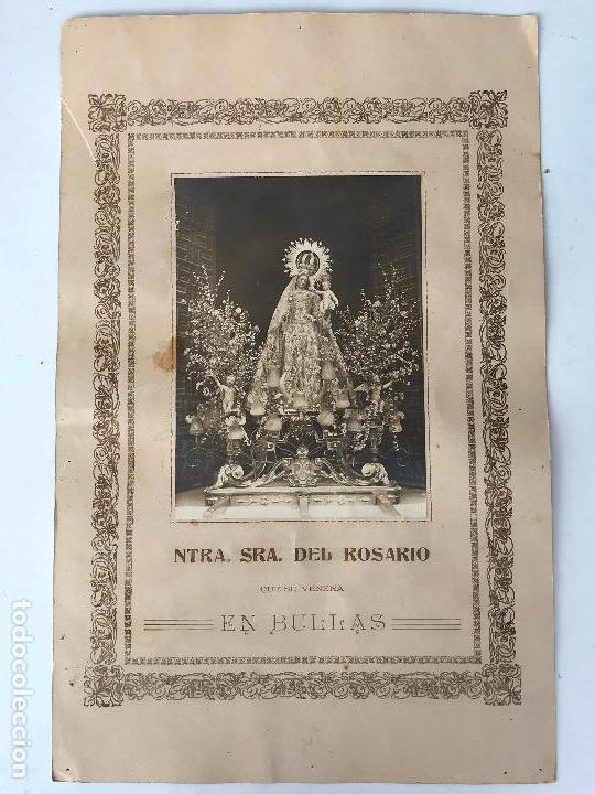 Fotografía antigua: Nuestra señora del rosario que se venera en Bullas - Antigua fotografia - Foto 2 - 134056254