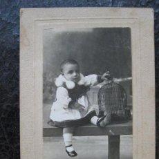 Fotografía antigua: FOTOGRAFIA NIÑA - DARBLADE - TORREVIEJA. Lote 134315110