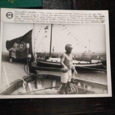 Fotografía antigua: GRAN FOTOGRAFIA - CADIZ 1998 EMBARCACIONES CADIZ ACOGE PORTUGAL . RIO SADO PINTO LUISA .... Lote 134639674