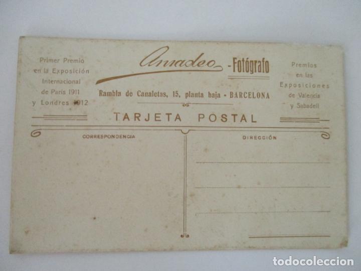 Fotografía antigua: Antigua Fotografía de Estudio - Tarjeta Postal - Niña - Fotógrafo Amadeo - Foto 3 - 134815314