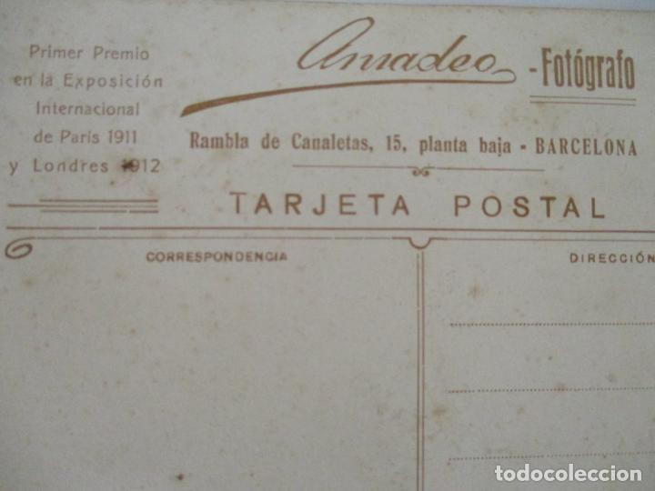 Fotografía antigua: Antigua Fotografía de Estudio - Tarjeta Postal - Niña - Fotógrafo Amadeo - Foto 4 - 134815314