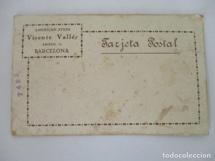 Fotografía antigua: Fotografía de Estudio American Study - Tarjeta Postal - Pareja Niños - Fotógrafo Vicente Vallés - Foto 3 - 134815506
