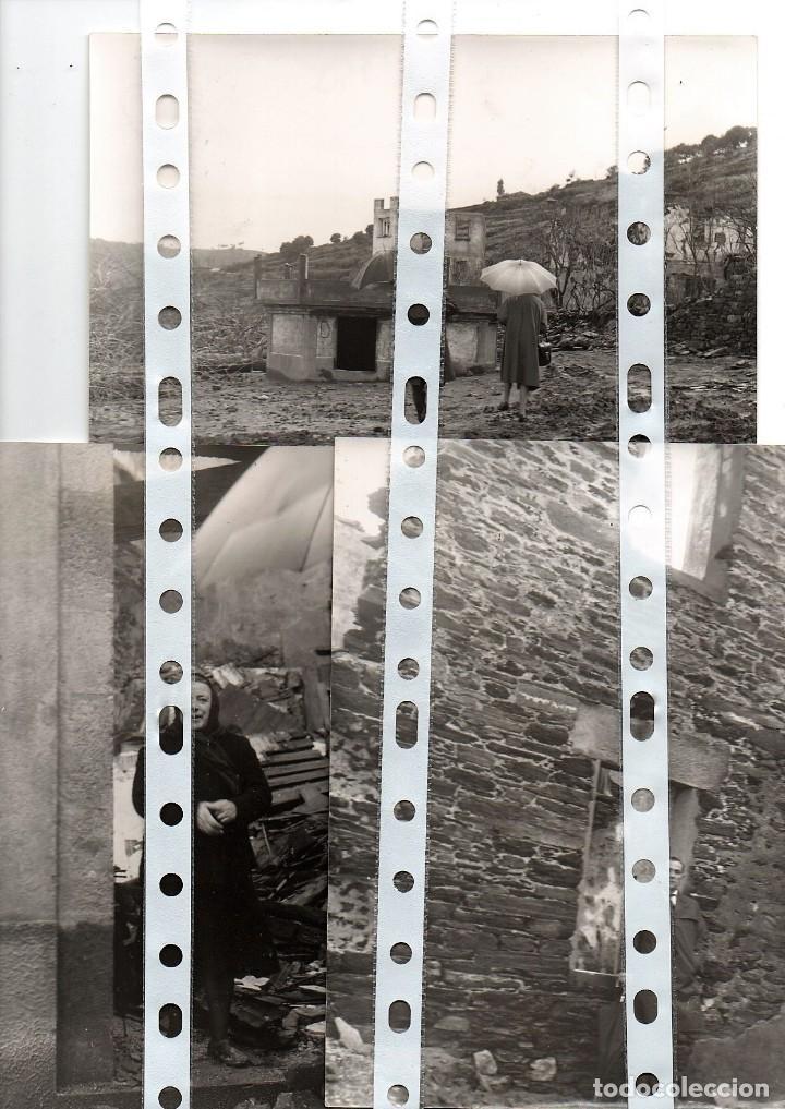 Fotografía antigua: 11 fotos del antiguo pueblo de Portomarín, Lugo, inundado por el pantano de Belasar en 1963. - Foto 3 - 134916194