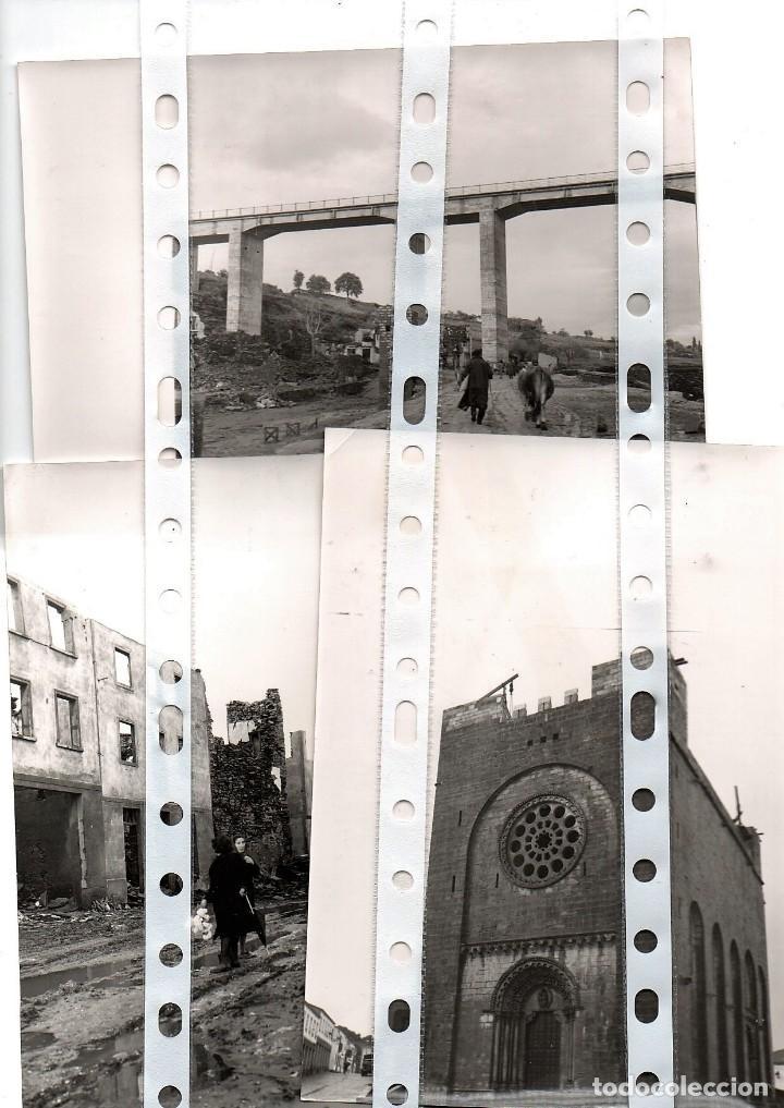 Fotografía antigua: 11 fotos del antiguo pueblo de Portomarín, Lugo, inundado por el pantano de Belasar en 1963. - Foto 4 - 134916194