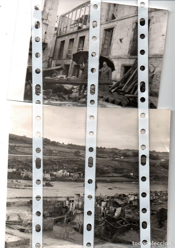 Fotografía antigua: 11 fotos del antiguo pueblo de Portomarín, Lugo, inundado por el pantano de Belasar en 1963. - Foto 5 - 134916194