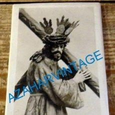Fotografía antigua: ANTIQUISIMA FOTOGRAFIA DE NTRO.PADRE JESUS NAZARENO DE OSUNA, 80X130MM. Lote 135004998