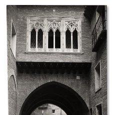 Fotografía antigua: CASA DEL DEÁN – ZARAGOZA. PALACIO MUDÉJAR ARAGONÉS. FOTO JARKE. COPIA VINTAGE. HACIA 1960. Lote 135069990