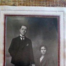 Fotografía antigua: RETRATO MATRIMONIO AÑOS 20, ARTE, DECORACIÓN, COLECCIONISMO. Lote 135198478