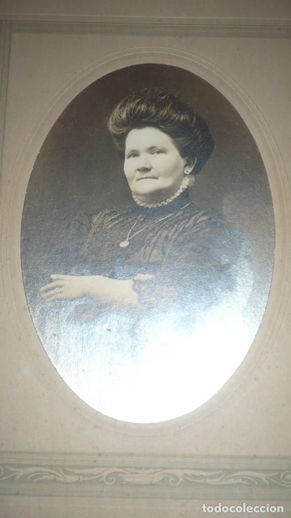 Fotografía antigua: Foto señora estadounidense posando; finales siglo XIX - Foto 2 - 135520674