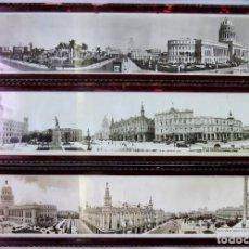 Fotografía antigua: TRES FOTOGRAFIAS PANORAMICAS DE LA HABANA, CUBA , 1937-1945, DIAGO U 3194, HABANA. Lote 135524130