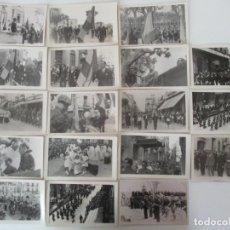 Fotografía antigua: INTERESANTE REPORTAJE FOTOGRÁFICO - 18 FOTOGRAFÍAS - ENTRADA TROPAS NACIONALES, FRANCO - GRANOLLERS. Lote 135630563